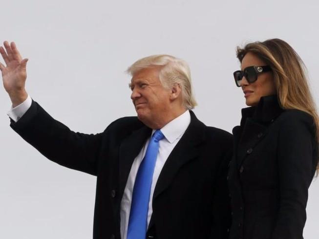 Ông Trump đã đến Washington chuẩn bị nhậm chức