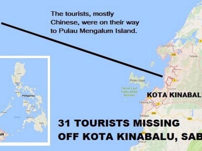 Tàu chở 28 khách Trung Quốc mất tích trên biển Malaysia