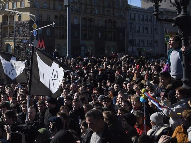 Nga: Biểu tình lớn nhất trong 5 năm, 600 người bị bắt