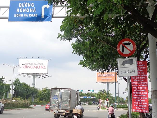 Từ 12-11, cấm ô tô tải lưu thông trên đường Hồng Hà