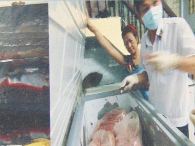 Phạt 106 triệu đồng do kinh doanh thịt nhiễm khuẩn