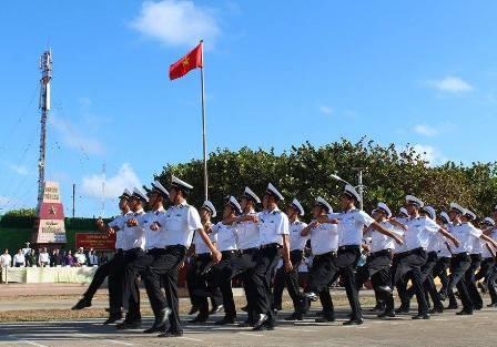Quân và dân Trường Sa kỉ niệm 40 năm ngày giải phóng