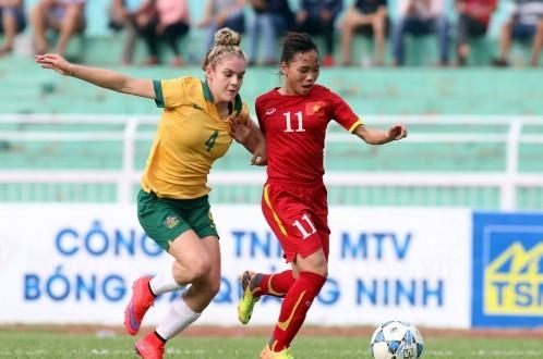 Tuyển nữ Việt Nam thua U-20 Úc ở phút cuối