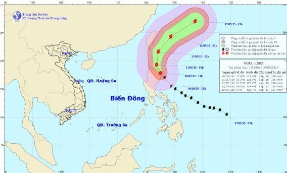 Bão Noul mạnh lên thành siêu bão hướng vào Philippines