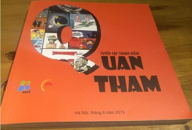 Ra mắt tuyển tập biếm họa 'Quan tham'