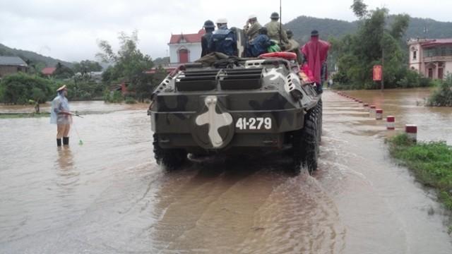 Quảng Ninh: Mưa đã giảm, nước đang rút dần