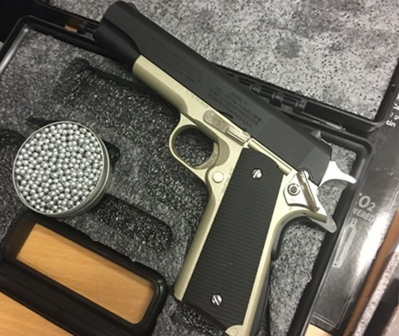 Hai khẩu súng nhập khẩu trái phép qua đường hàng không