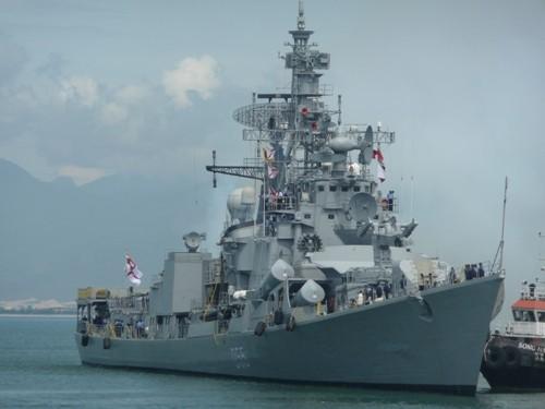 Chiến hạm 'tàng hình' của Hải quân Ấn Độ đến Đà Nẵng trễ hơn dự kiến