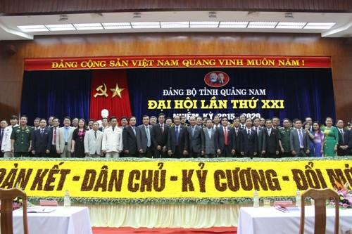 Bế mạc Đại hội Đảng bộ tỉnh Quảng Nam lần thứ XXI