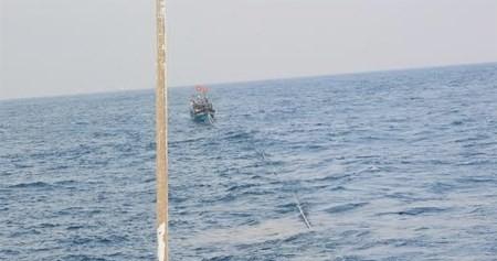 Cứu sáu ngư dân gặp nạn khi đang diễn tập cứu nạn trên biển