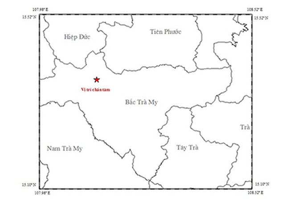 Động đất 3,2 độ richter ở Quảng Nam