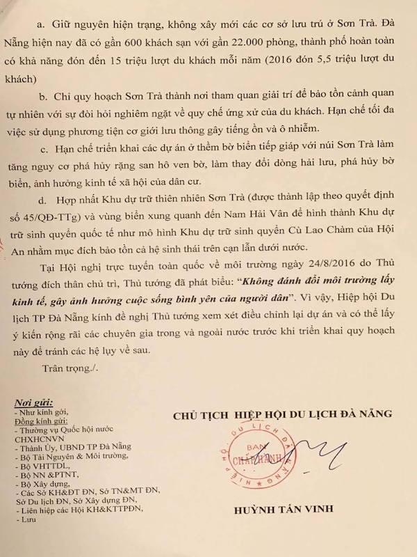 Gửi tâm thư tới Thủ tướng về số phận của Sơn Trà