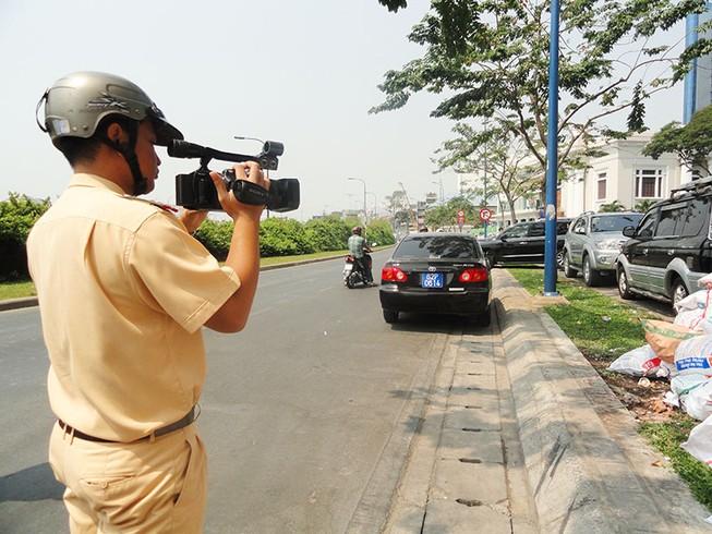 Cảnh sát ghi hình xử phạt vi phạm giao thông như thế nào?