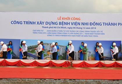 BV Nhi đồng TP sẽ hoàn thành vào ngày 30-9