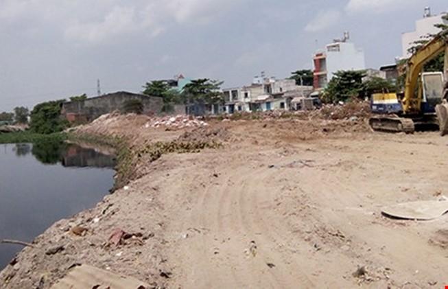 Dự án kênh Tham Lương đang nạo vét km cuối cùng
