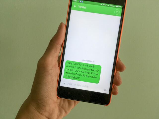 Nhà mạng đồng loạt nhắn tin mời công dân đi bầu cử