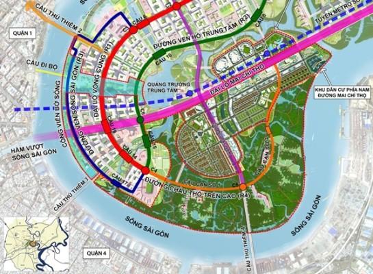 8.700 tỉ dời cảng Tân Thuận và xây cầu Thủ Thiêm 4