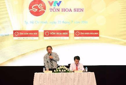 Ra mắt giải đua xe đạp quốc tế VTV Cúp Tôn Hoa Sen 2016