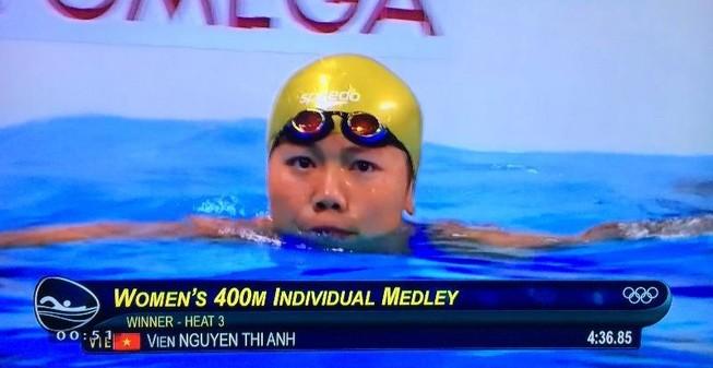 Ánh Viên giành chiến thắng vòng loại, phá sâu kỷ lục SEA Games