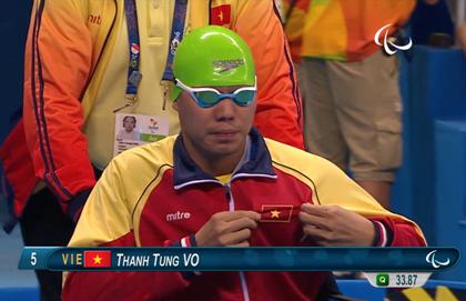 Võ Thanh Tùng xuất sắc đoạt HCB bơi Paralympic