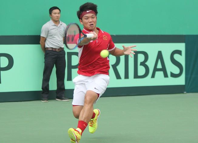 Tuyển Davis Cup VN lần thứ hai thua ngược trên sân nhà
