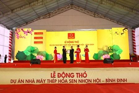 Bình Định có thêm dự án thép 2.000 tỉ đồng