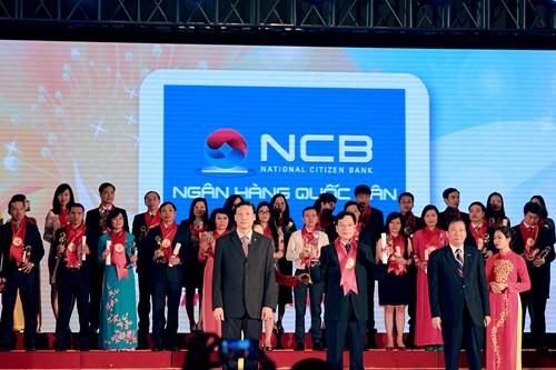 NCB nhận giải thưởng Thương hiệu mạnh Việt Nam 2015