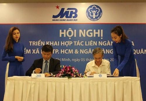 MB hợp tác thu bảo hiểm xã hội tại TP. HCM