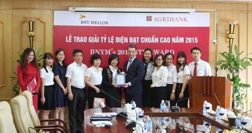 Agribank: Lần thứ 7 liên tiếp đạt giải chất lượng dịch vụ