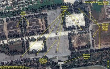 Ảnh vệ tinh 'soi' quy mô diễu binh rầm rộ của Triều Tiên