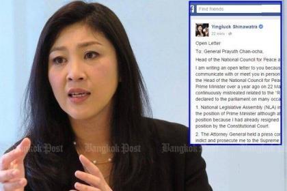Thái Lan đòi tịch biên tài sản cựu thủ tướng Yingluck