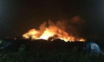 Trại tị nạn Pháp bất ngờ bùng cháy sau vụ tấn công