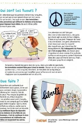 Pháp cho in tờ rơi  giải thích vụ khủng bố Paris