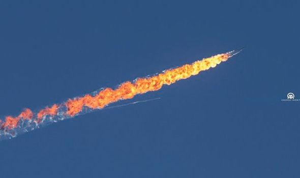 Máy bay Su-24 của Nga bị Thổ Nhĩ Kỳ bắn hạ