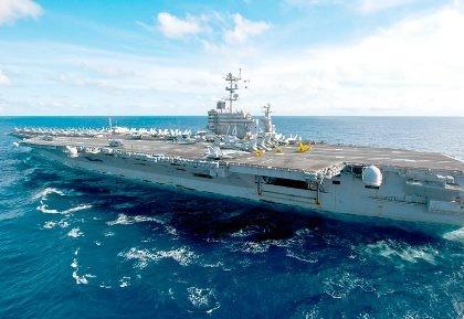 Tàu Trung Quốc đang ở gần tàu sân bay Mỹ ở biển Đông