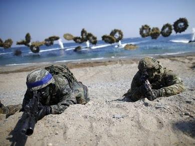50 tàu hải quân Mỹ - Hàn tập trận đối phó Triều Tiên