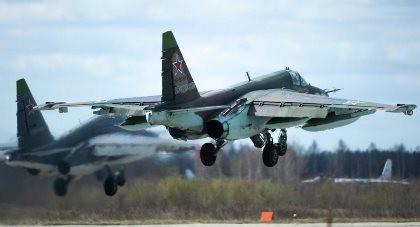 Su-25 Nga rơi, phi công nhảy dù thoát nạn