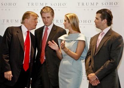 Hai con của ông Donld Trump sẽ không bỏ phiếu cho cha