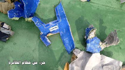Công bố hình ảnh đầu tiên về mảnh vỡ của chuyến bay Ai Cập gặp nạn