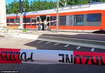 Thụy Sĩ: Phóng hỏa, đâm dao trên tàu, 7 người bị thương