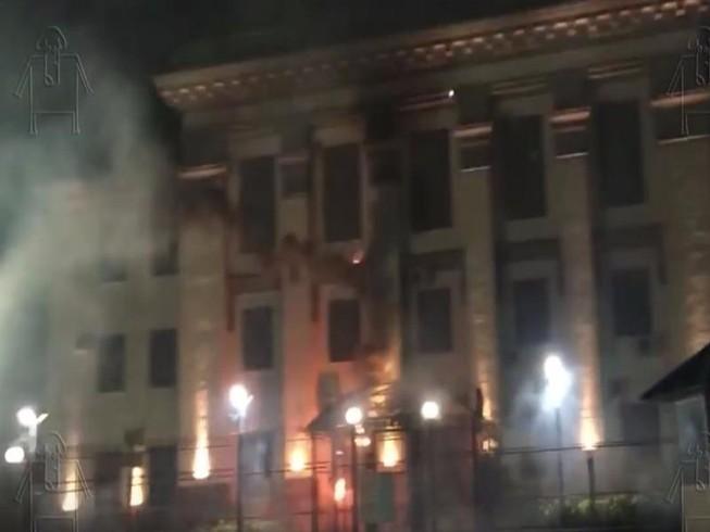 Đại sứ quán Nga ở Ukraine bị tấn công bằng pháo hoa