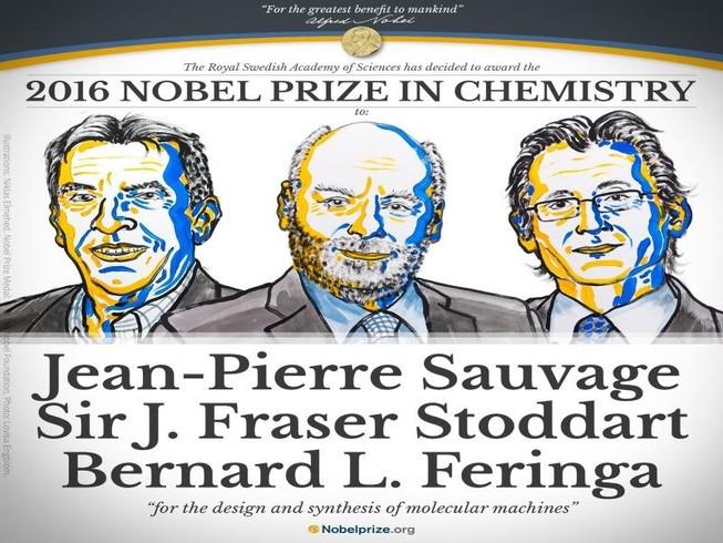 Nobel Hóa học 2016 vinh danh 'những cỗ máy phân tử'