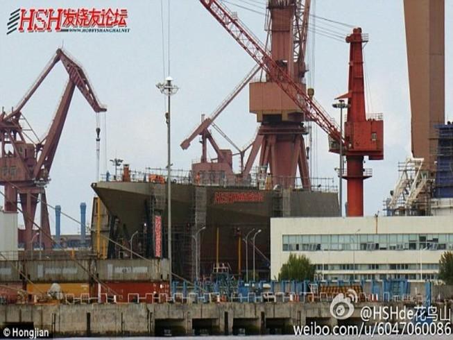 Lộ diện chiến hạm tàng hình lớn nhất Trung Quốc