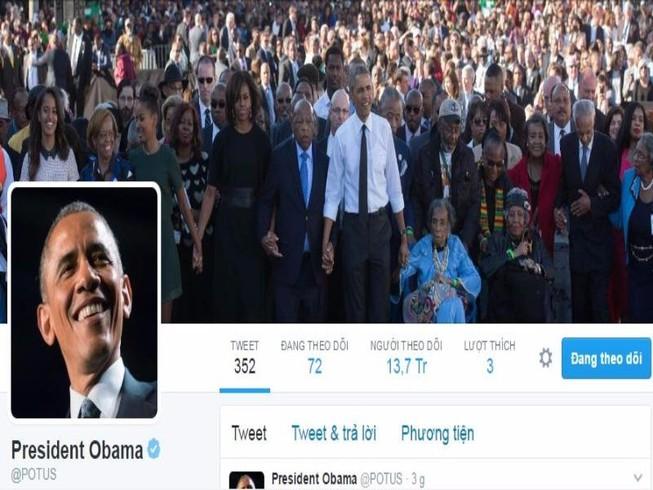 Xúc động lời chia sẻ cuối cùng trên Twitter của Obama