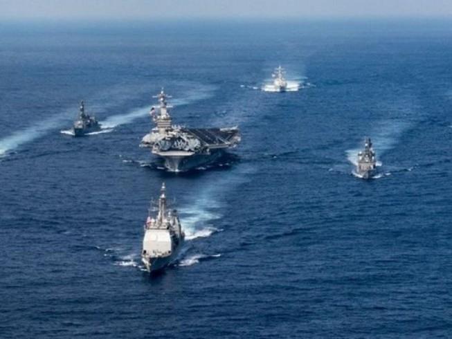 Tàu sân bay Carl Vinson tập trận gần bán đảo Triều Tiên