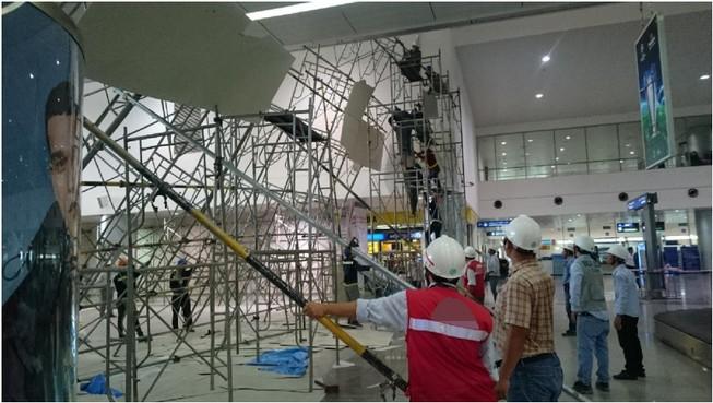Khắc phục sự cố đổ giàn giáo tại sân bay Tân Sơn Nhất
