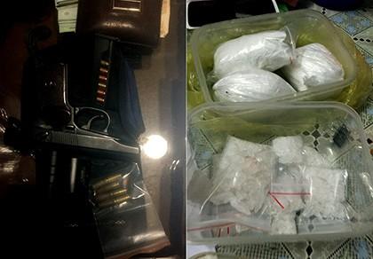 Đường dây buôn ma túy thủ súng đạn từ miền Bắc vào TP.HCM