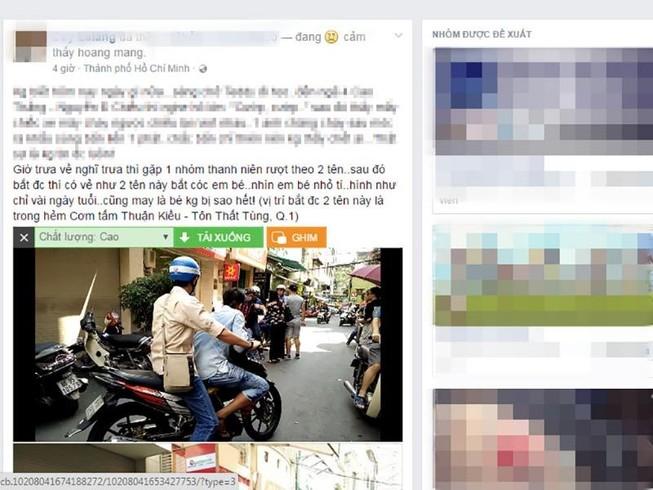 Sự thật về '2 người nghi bắt cóc trẻ em' ở TP.HCM