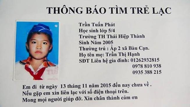 Đồng Nai: Lại thêm một học sinh nghi bị mất tích