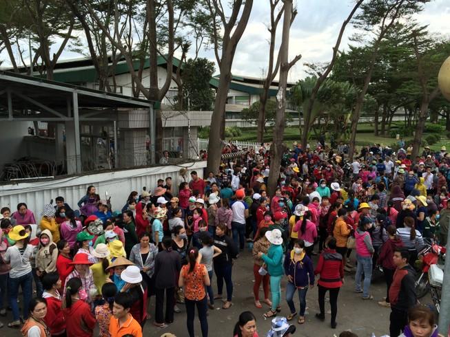 Công nhân Công ty Pouchen Việt Nam tiếp tục ngưng làm việc